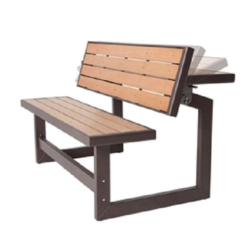 Metal & Wood Park Style Bench for Outdoor Patio Lawn Garden - YourGardenStop