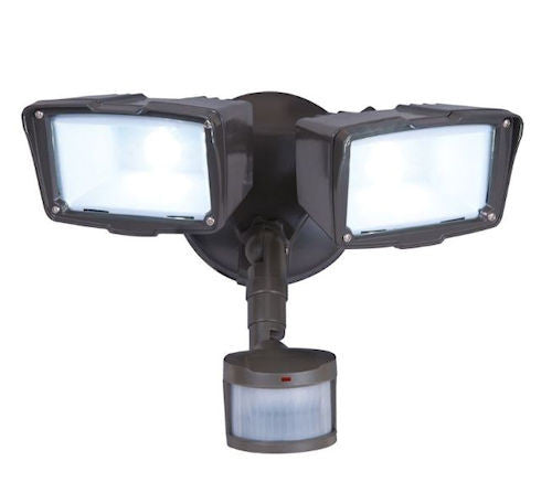 Motion Activated Energy Star LED 2-Head Floodlight/Security Light