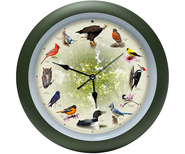 20th Anniversary 13 inch Singing Bird Clock - YourGardenStop