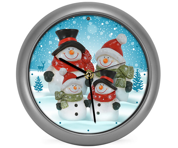 Snow Family Generation II Clock by Mark Feldstein - YourGardenStop