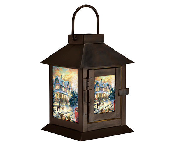 Thomas Kinkade All Aboard for Christmas Lantern