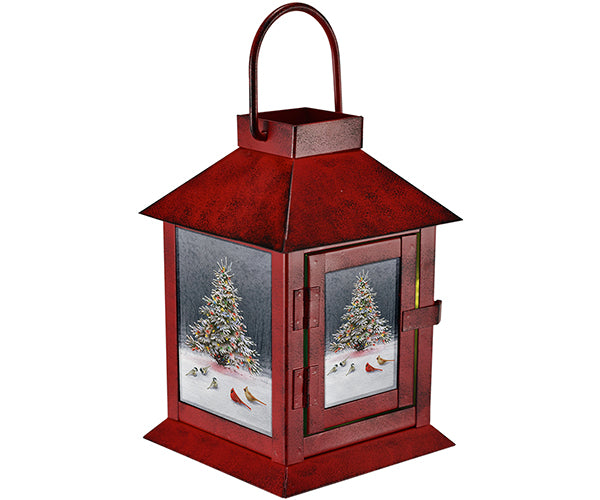 Christmas Tree Bird Gathering Lantern by Catherine McClung