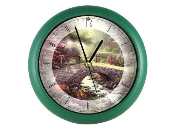 Thomas Kinkade Bridge of Faith 8 inch Clock - YourGardenStop