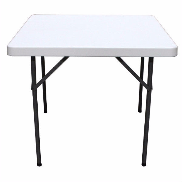 Square 36-inch Folding Table with Gray HDPE Plastic Top - YourGardenStop