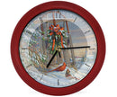 Wintertime Sleigh Cardinals 8 inch Sound Clock - YourGardenStop
