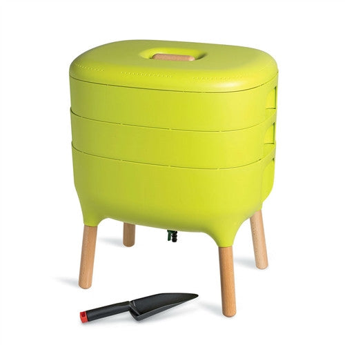 Modern Worm Farm Indoor Compost Bin Vermicomoster No Odor or Bad Smell Green - YourGardenStop