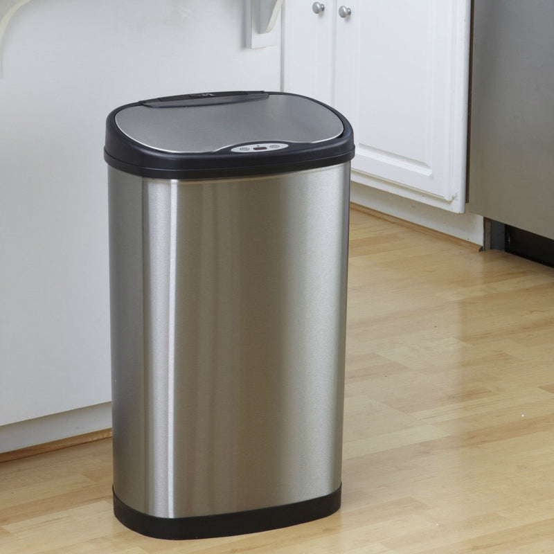 Stainless Steel 13 Gallon Touchless Kitchen Trash Can - YourGardenStop