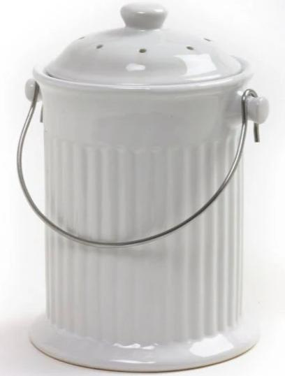 Ceramic Compost Bin with Charcoal Filter - YourGardenStop
