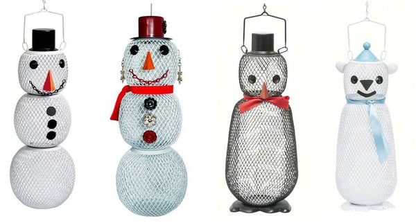 Bird Feeders by No-No (Snowman, Penquin, Mrs Snowman & Polar Bear)