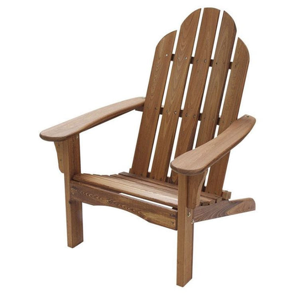 Folding Adirondack Chair in Natural Wood Finish - YourGardenStop