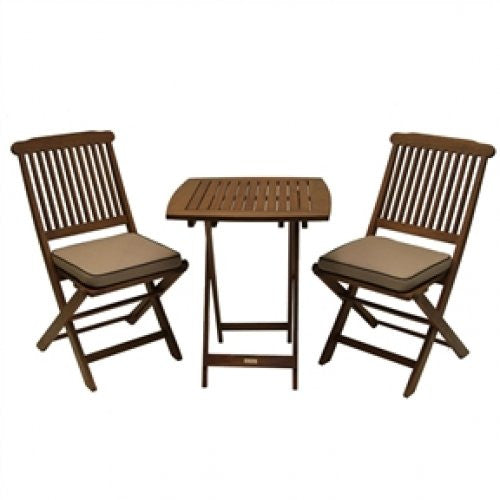 3-Piece Bistro Patio Furniture Set with Chair Cushions - YourGardenStop