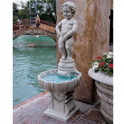 Outdoor Peeing Boy Statue Water Fountain - YourGardenStop