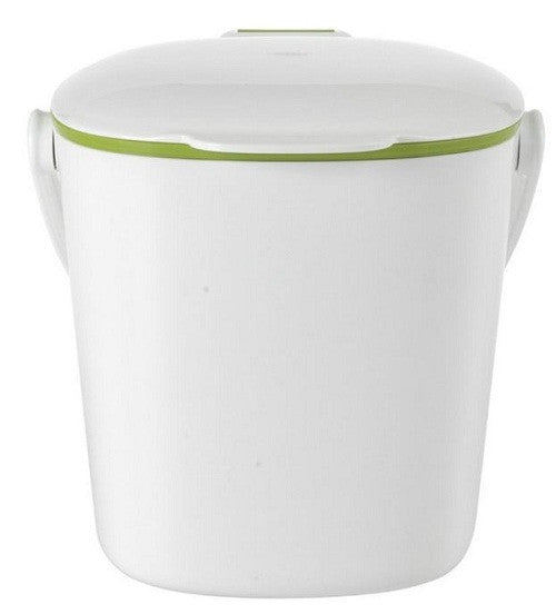 Good Grips White Compost Bin with Smooth Green Interior - YourGardenStop