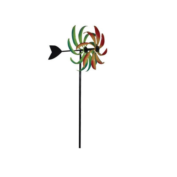 51 inch Multi-Colored Kinetic Art Windmill - YourGardenStop