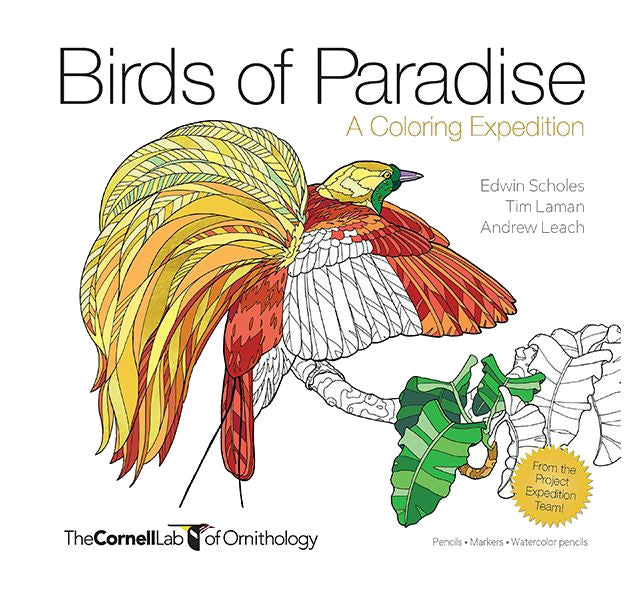 Birds of Paradise-A Coloring Expedition - Adult Coloring Book - YourGardenStop