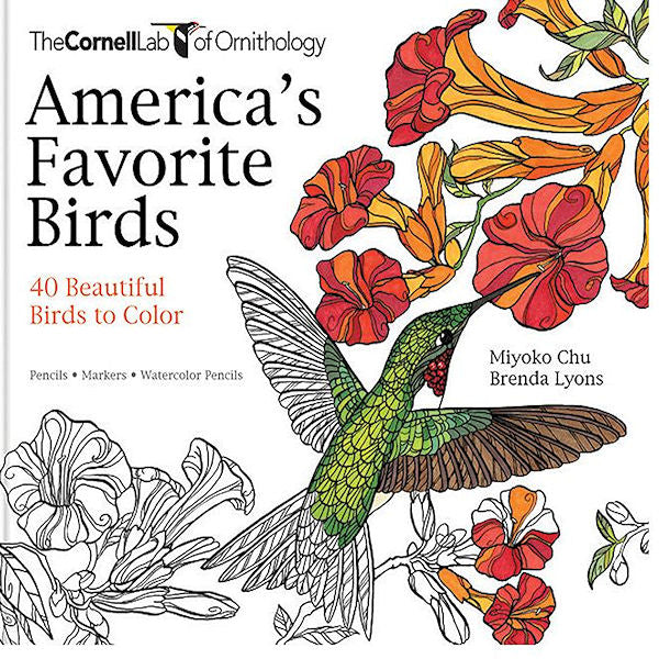 America's Favorite Birds: 40 Beautiful Birds to Color -