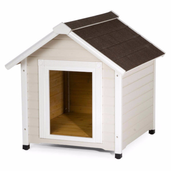 Solid Wood Luxurious Dog House with Classic Asphalt Shingle Roof - YourGardenStop