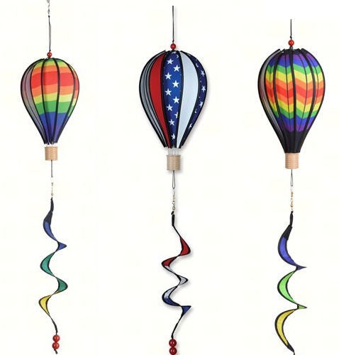 Premier Designs Hot Air Balloon Spinners (Rainbow, Patriotic, Chevron) - YourGardenStop