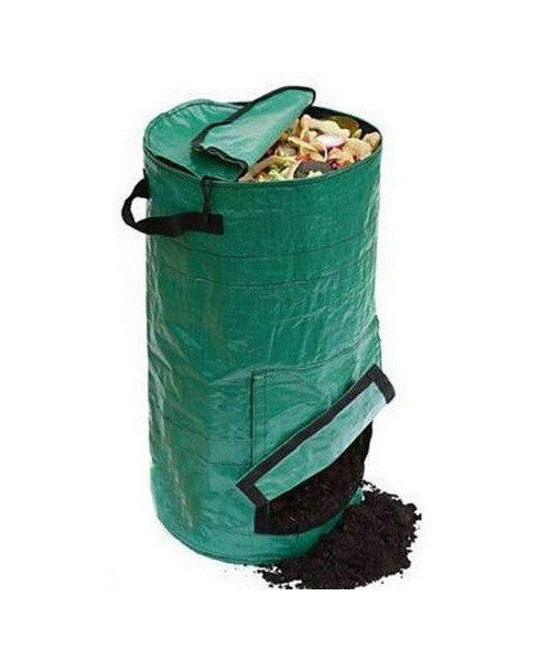 16-Gallon Home Composting Bin w/Bottom Access Veclro Flap - YourGardenStop