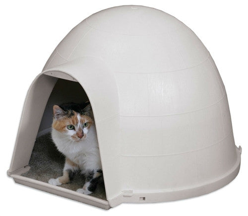 Outdoor Kitty Cat Igloo with Carpeted Floor - YourGardenStop