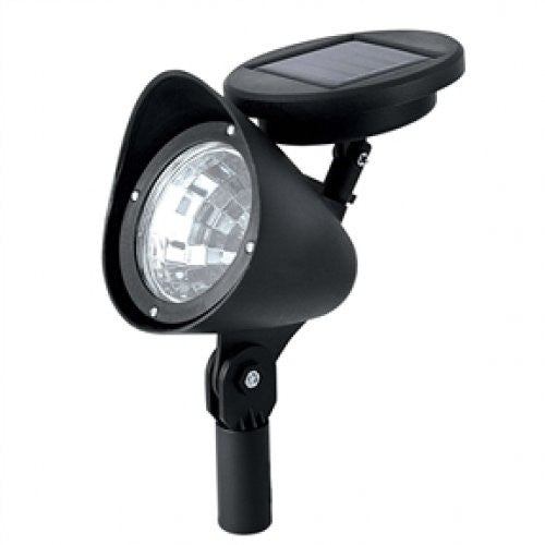 8 Pack Solar Powered Outdoor LED Spot Light in Black - YourGardenStop