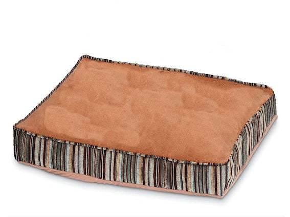 Antimicrobial Pet Bed with Zippered Removable Cover