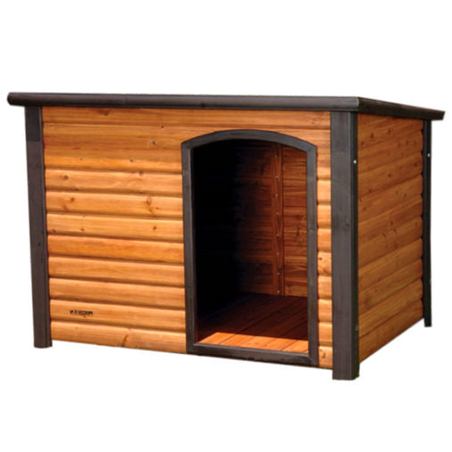 Slant Roof Solid Wood Outdoor Dog House 33L x 24W x 22H inch - YourGardenStop