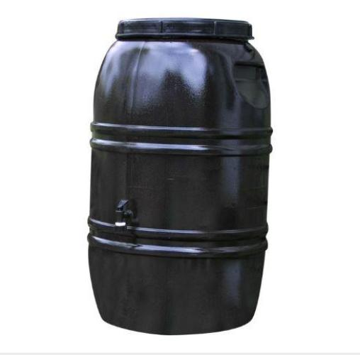 60-Gallon Rain Barrel in Earth Brown Food Grade Plastic - YourGardenStop