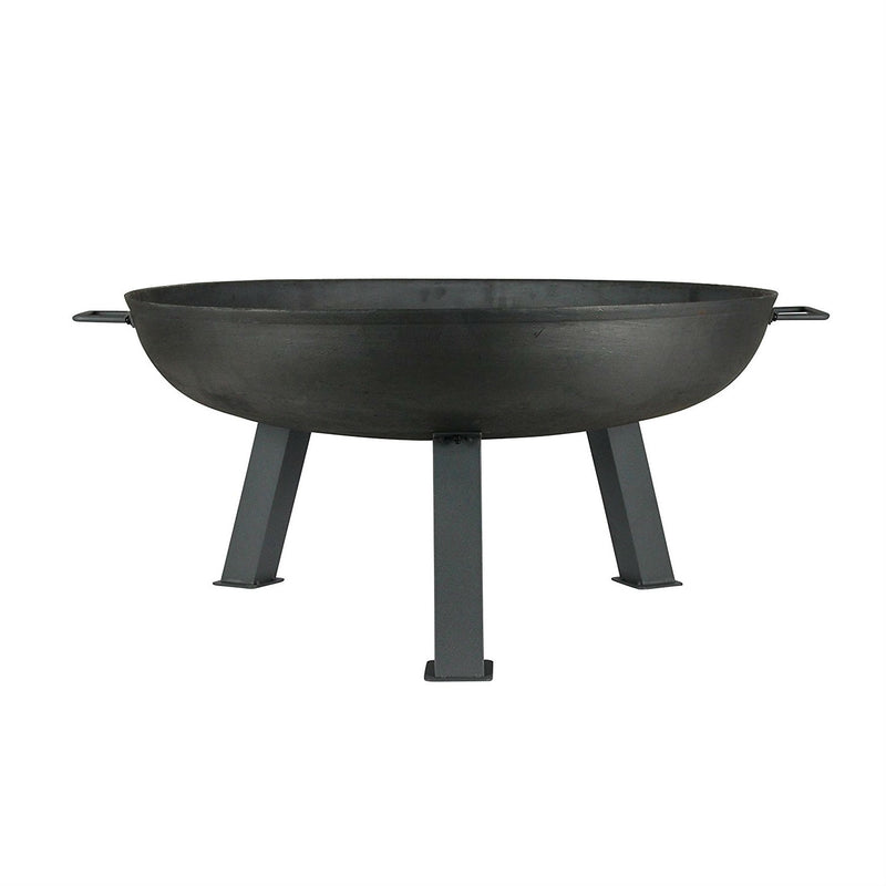 Large 30-inch Cast Iron Fire Pit Bowl with Sturdy Steel Legs - YourGardenStop