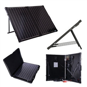 100 Watt Folding Solar Suitcase Battery Charger - YourGardenStop