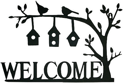 Welcome Birdhouses Wall Art