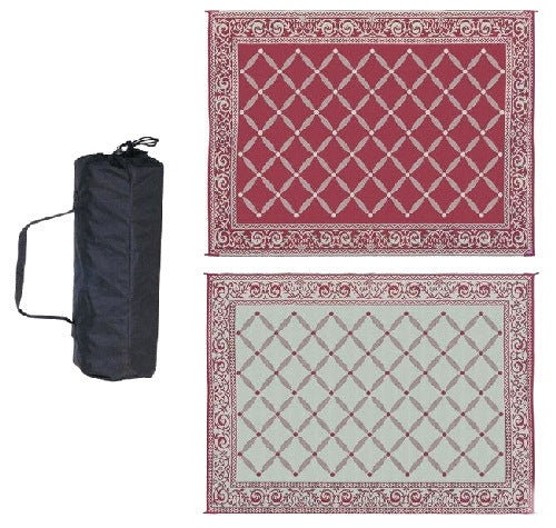 6' x 9' Reversible Outdoor Area Rug in Red and Beige - YourGardenStop