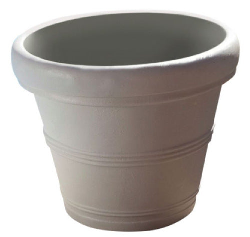 12-inch Diameter Planter in Weathered Concrete Finish - YourGardenStop