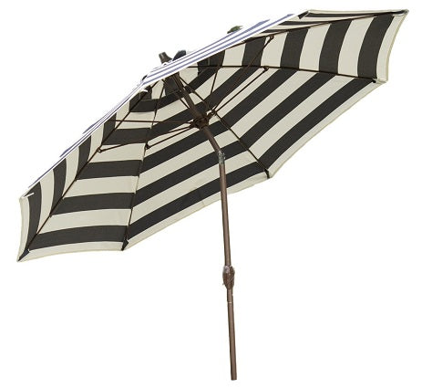7.5-Ft Patio Umbrella with Navy and White Stripe