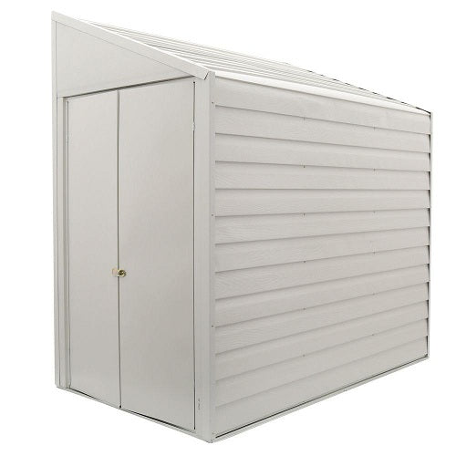 Outdoor Steel 7 x 4 ft Storage Shed with Sloped Roof - YourGardenStop