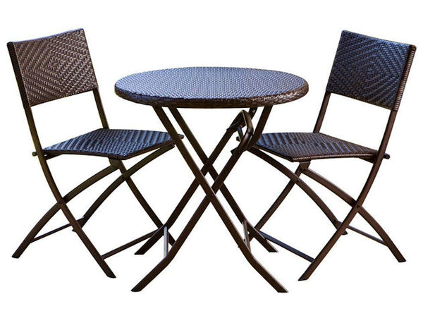3-Piece Bistro Set with Round Table & 2 Patio Chairs - YourGardenStop