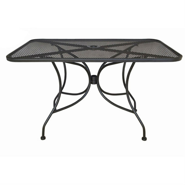 Ash Black Steel 28 x 28 inch Metal Outdoor Dining Patio Table - YourGardenStop