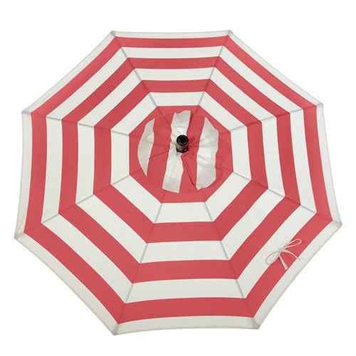7.5-Ft Patio Umbrella with Red and White Stripe - YourGardenStop