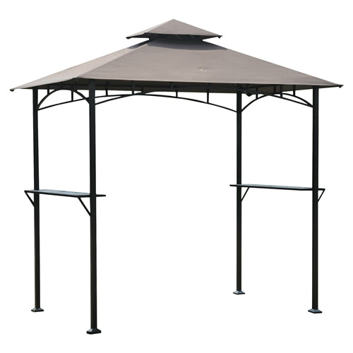 8'x5' Steel Frame Outdoor Grilling Gazebo with Vent Top Canopy - YourGardenStop