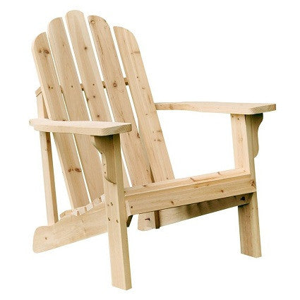 Natural Cedar Wood Adirondack Chair - YourGardenStop