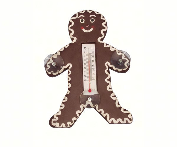 Gingerbread Man Window Thermometer - YourGardenStop