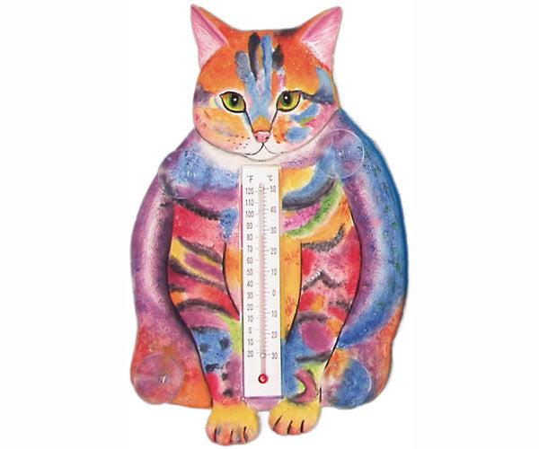 Thermometer Small Cat Fat Pastel Tabby