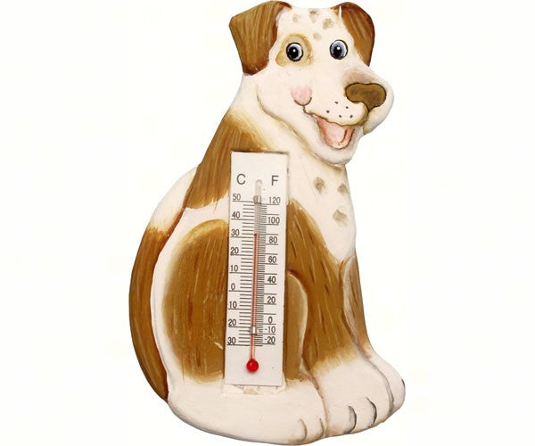 Brown Dog Small Window Thermometer - YourGardenStop