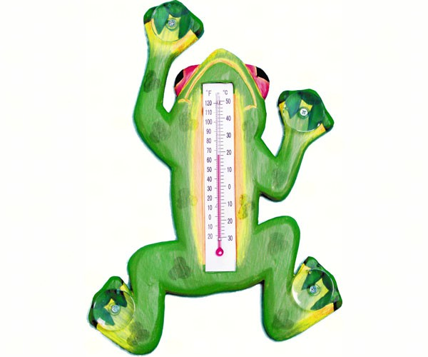 Climbing Tree Frog Small Window Thermometer - YourGardenStop