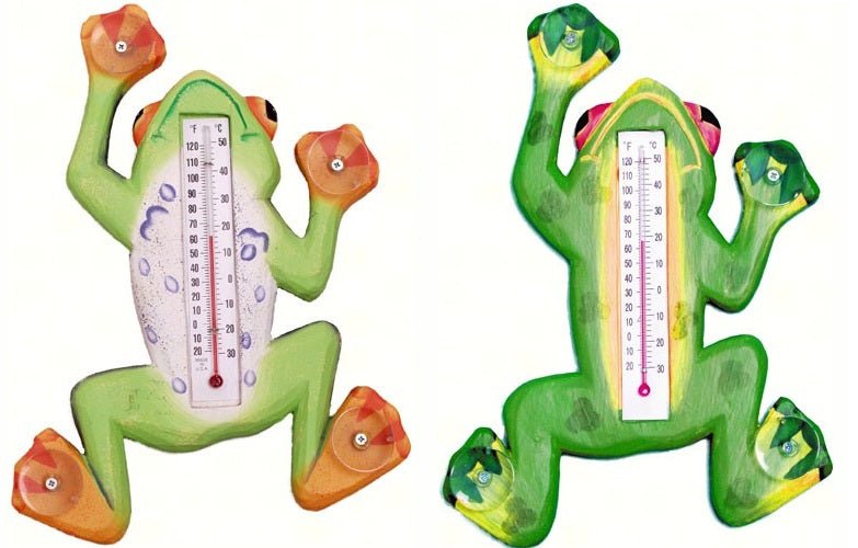 Climbing Tree Frog Small Window Thermometer (Options Available) - YourGardenStop
