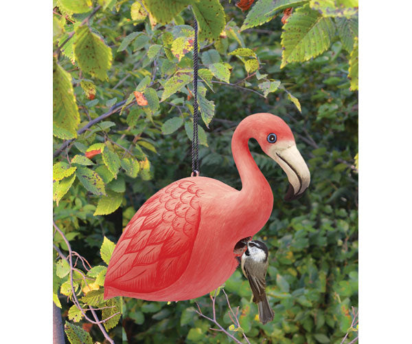 Flamingo Birdhouse by Songbird Essentials - YourGardenStop