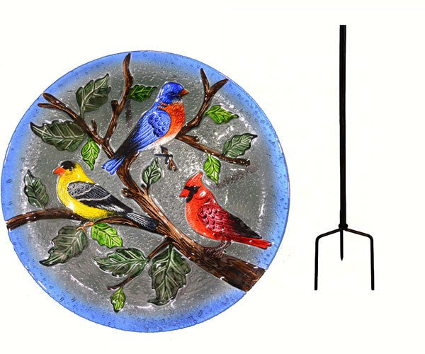 Songbird Trio Birdbath by Songbird Essentials (Stand, Hanging, Stake) - YourGardenStop