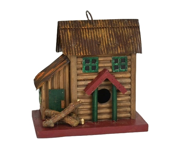 Two-Story Cabin Birdhouse by Songbird Essentials - YourGardenStop