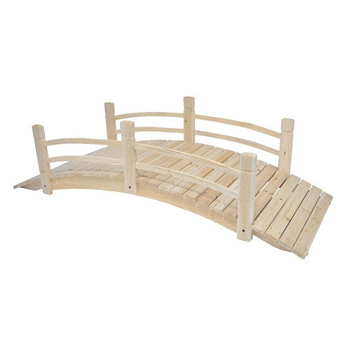 Cedar Wood 6 Ft Garden Bridge Weight Capacity 575 lbs - YourGardenStop