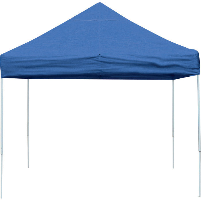Blue 10-Ft x 10-Ft Pop Up Canopy with Steel Frame and Spike Anchors - YourGardenStop
